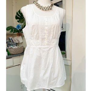 J. CREW Sleeveless White Crisp Cotton blouse 12